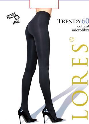 """Колготки Lores """"Trendy"""" 60 ден черные - 2, 3 размер, Италия"""