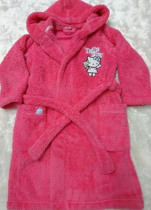 Банный детский  халат     hello kitty