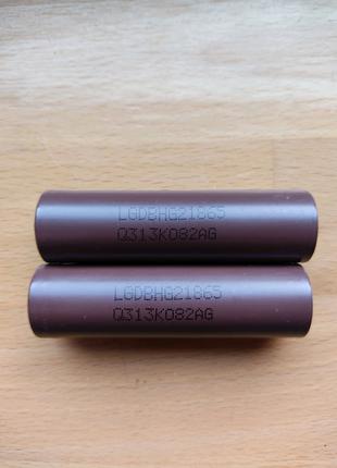 2 аккумулятора 18650 LG
