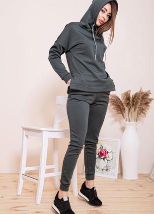 Утепленный женский спортивный костюм (42-54рр)