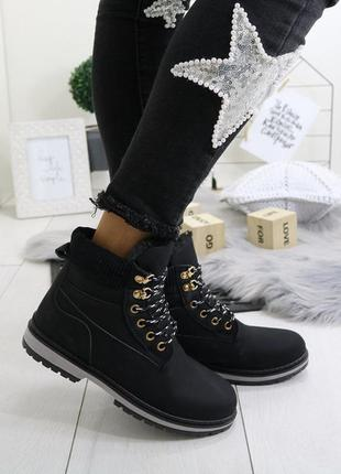 Утеплены женские ботинки деми осень евро зима низкий ход жіноч...
