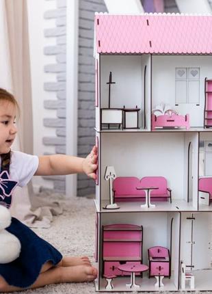 Домик для кукол ЛОЛ кукольный домик дом для Барби деревянный д...