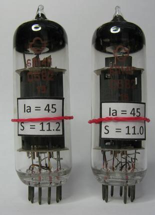 Измеренная и подобранная пара радиоламп 6П14П Hi-Fi усилителей