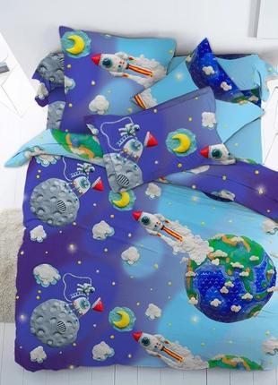 Постельное белье подростковое Пластилиновый космос