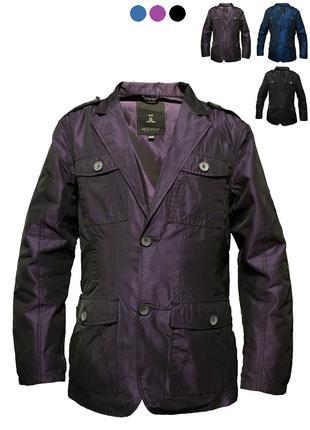 Ультрамодний ефектний піджак, жакет, вітровка фіолетового кольору