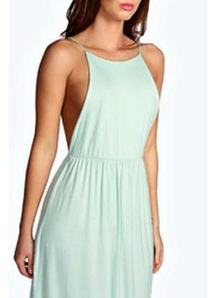 Невероятное девственное мятное натуральное платье макси в пол ...