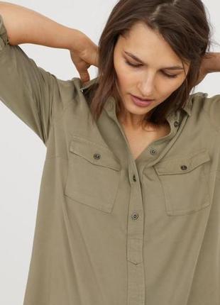 Платье-рубашка длинная блуза для беременной беременяшки стиль ...