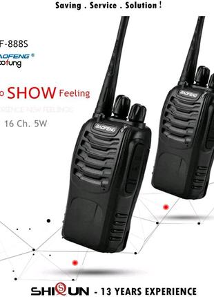 Рация Baofeng BF-888S 888s UHF 5 Вт 400-470 МГц