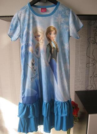 Новогоднее праздничное платье эльза туника игровой костюм аним...