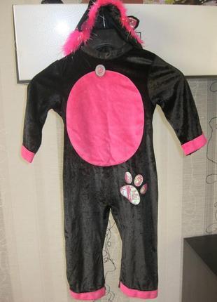 Кися мура кошка котик велюровый карнавальный костюм 18-24 меся...