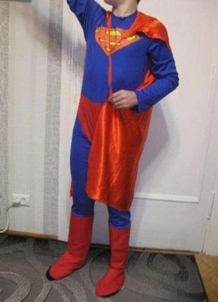 Новогодний костюм классный кигуруми супермен новый год карнава...