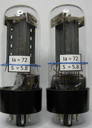 Измеренная и подобранная пара радиоламп 6П3С для Hi-Fi усилителей