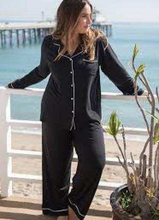 Красивая женская натуральная пижама большого размера принт зве...