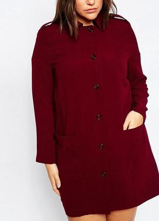 Много больших размеров!пог 80удлиненный кардиган пальто строго...