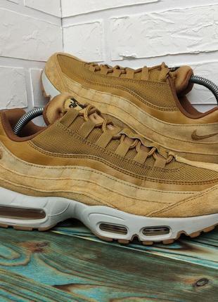 Оригинальные замшевые кроссовки nike air max 95 43