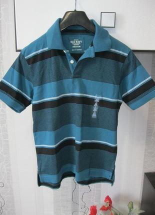 Old navy футболка поло мальчику 100% коттон 7-9 лет 130-145 см