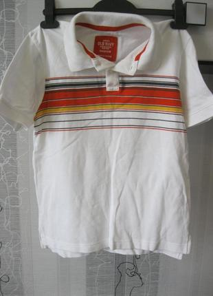 Old navy футболка поло мальчику 7-8-9 лет 100% коттон