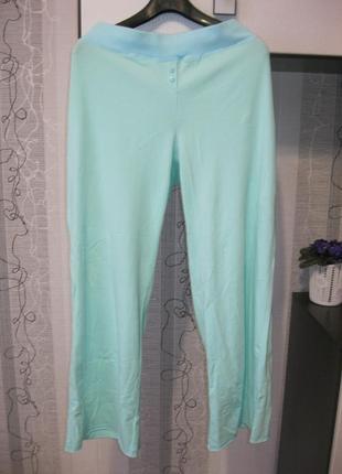 Новые домашние пижамные натуральные штаны брюки большой батал ...