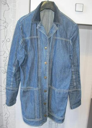 Классный джинсовый пиджак бойфренд куртка плащ тренч кардиган ...