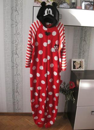Кигуруми микки маус пижама халат человечек 14-16 хл-ххл 44-50
