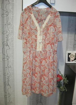 Лайфхак в описании!винтажное воздушное летнее платье свинг тур...