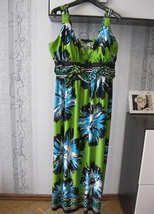 Olivia matthews невероятное летнее платье сарафан микромасло б...