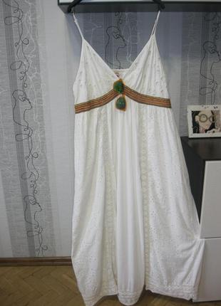 Нереальное платье 100 котон стиль бохо этно прованс кружево пр...