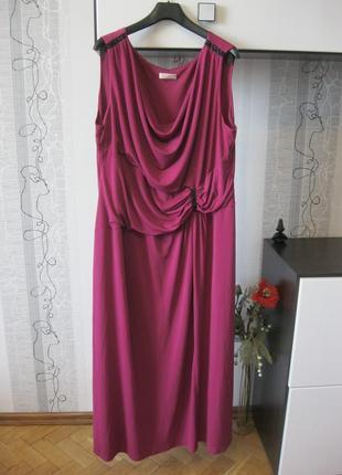 Красивое платье микромасло длинное нарядное и повседневное бол...
