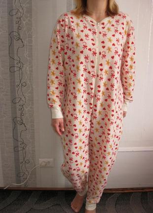 Теплая пижама слип кигуруми пряничек ночнушка халат л, наш 46,...