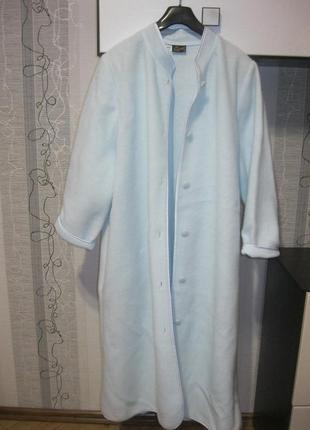 Новое флисовое пальто королевское на пуговицах ххл 44 50