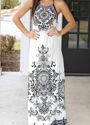 Нереально красивое летнее платье сарафан в пол макси длинное п...