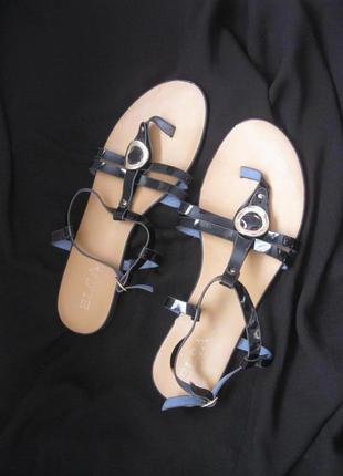 Атмосферные босоножки шлёпки въетнамки сандалии индиго с украш...