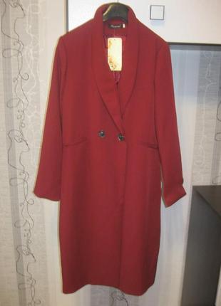 Обвал цен!удлиненный пиджак кардиган на пуговице бордо марсала...