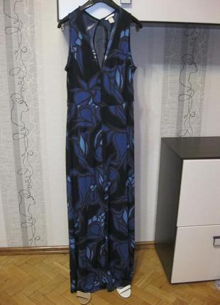 Вечерний роскошный комбинезон как платье-майка макси в пол при...