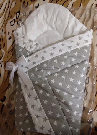 Одеяло-конверт на выписку из роддома