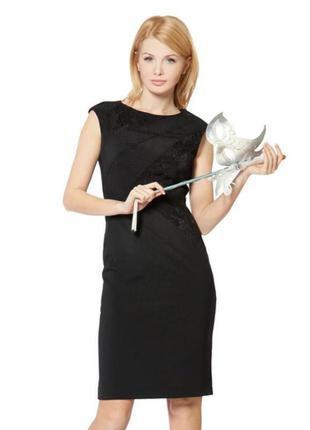 Скромное маленькое черное платье-майка из эвкалипта карандаш л...