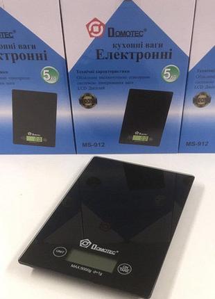 Весы кухонные электронные Сенсорные Domotec  ACS 5Kg/1g MS 912