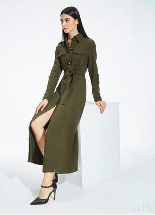 Невероятное длинное платье-рубашка-халат,длинный рукав