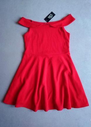 Нарядное фактурное платье с приспущенными плечами - 40% скидка!
