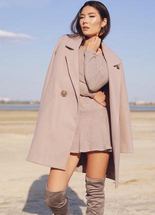 Пальто бежевое Gepur