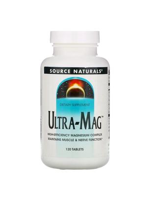 Магний ультра- магний B6  (Ultra-Mag) 200 мг 120 таблеток