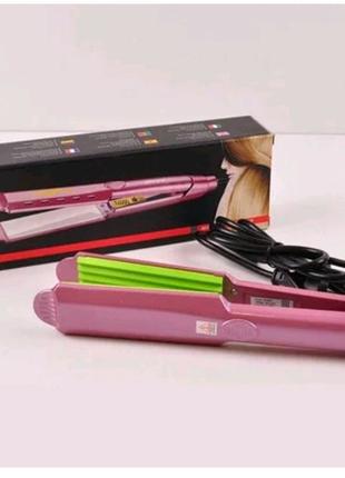 Утюжок ГОФРЕ плойка для волос Gemei GM-2957-1, Прибор для укладки