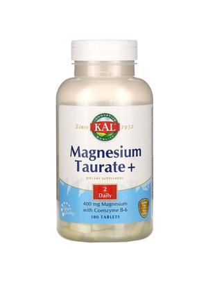 Таурат магния+, 400 мг, 180 таблеток