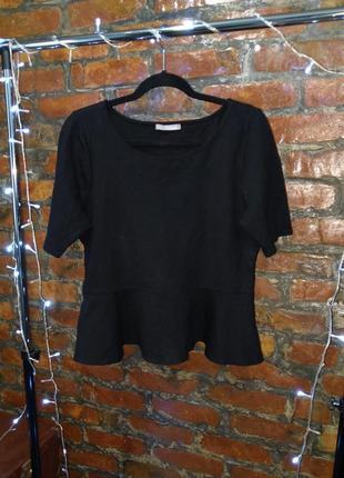 Джемпер блуза топ кофточка с баской из костюмного трикотажа ma...