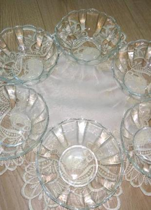 Салатник arcoroc франція/ стеклянные  тарелки/креманки/салатник