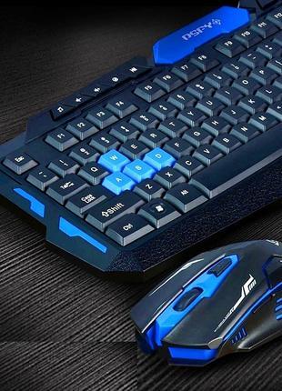 Беспроводная игровая клавиатура и мышка в комплекте!