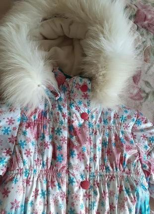 Зимняя куртка на девочку 4-5 лет