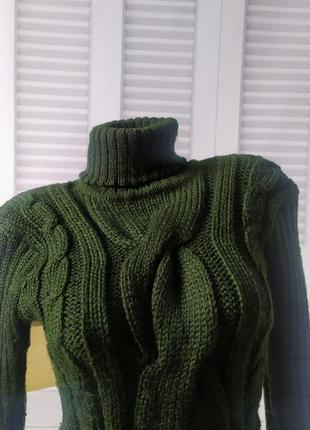 Свитшот свитер кофта джемпер пуловер тёплый зелёный, s/m