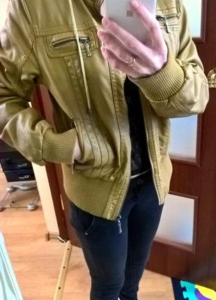Горчичная куртка на меху