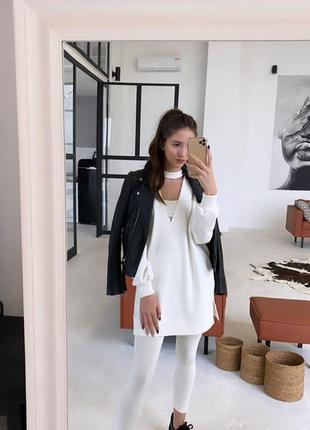 Oversize платье худи на пуговицах